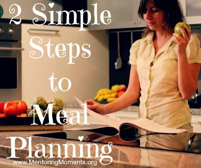 2 Simple Steps to Meal Planning - Mentoring Moments