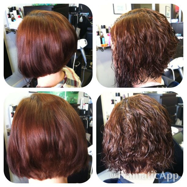 A Line Haircut Before After Perm Hair By Me In 2019 Spiral