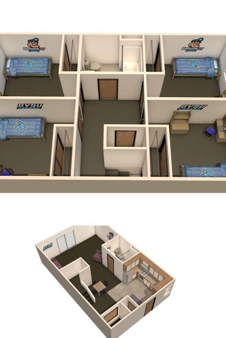 Gvsu Laker Village 4 Bedroom Apartment Gvsu Lakers 4 Bedroom Apartments Gvsu