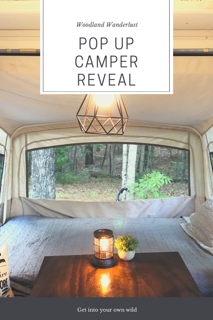 Pop Up Camper Dreamin A Reality Woodland Wanderlust Pop Up Camper Popup Camper Remodel Pop Up Trailer