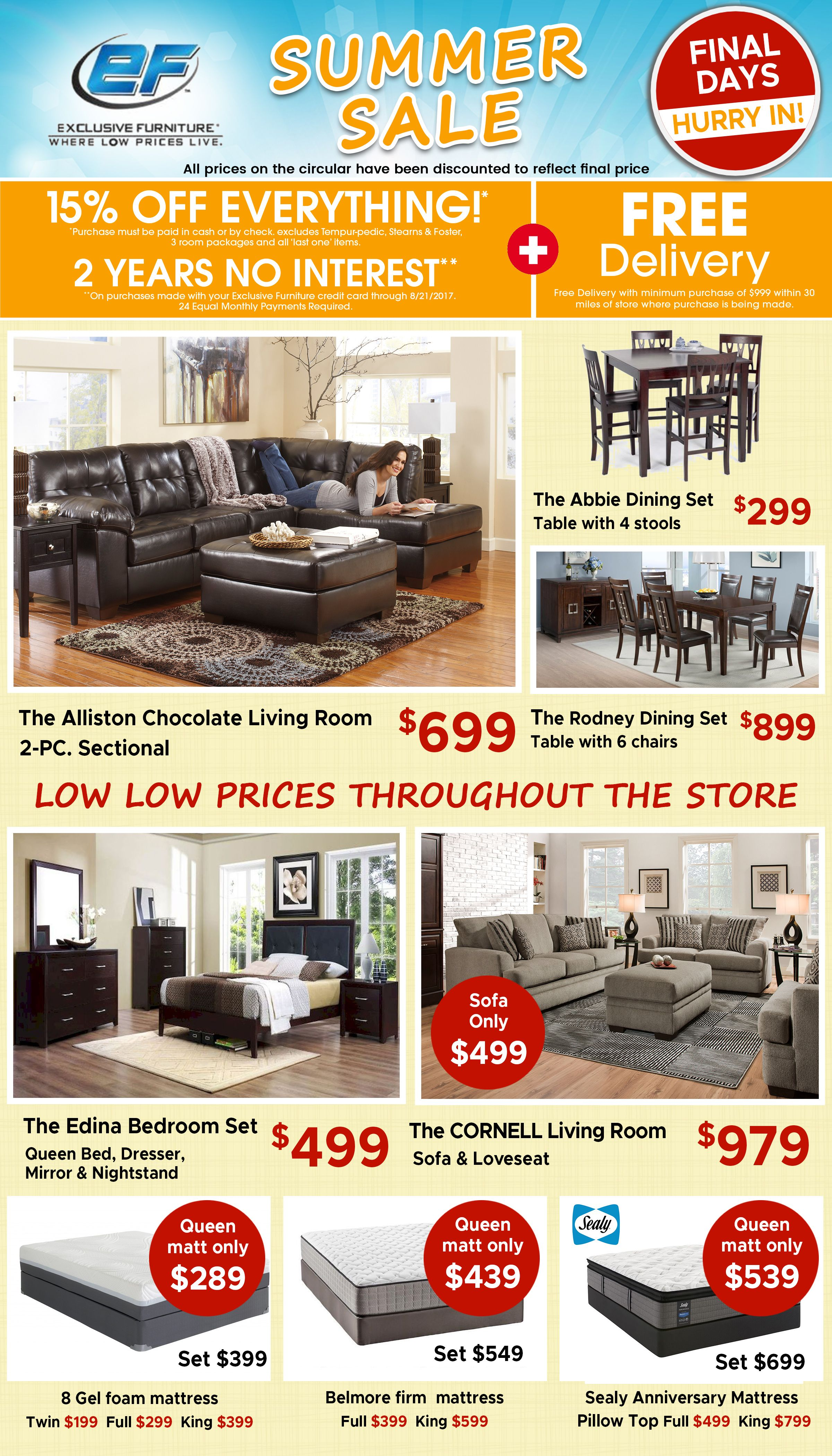 Hot Summer Sale 15 Off Everything 2 Years No Interest Free Delivery Exclusivefurniture Wherelow Exclusive Furniture Chocolate Living Rooms Houston Furniture