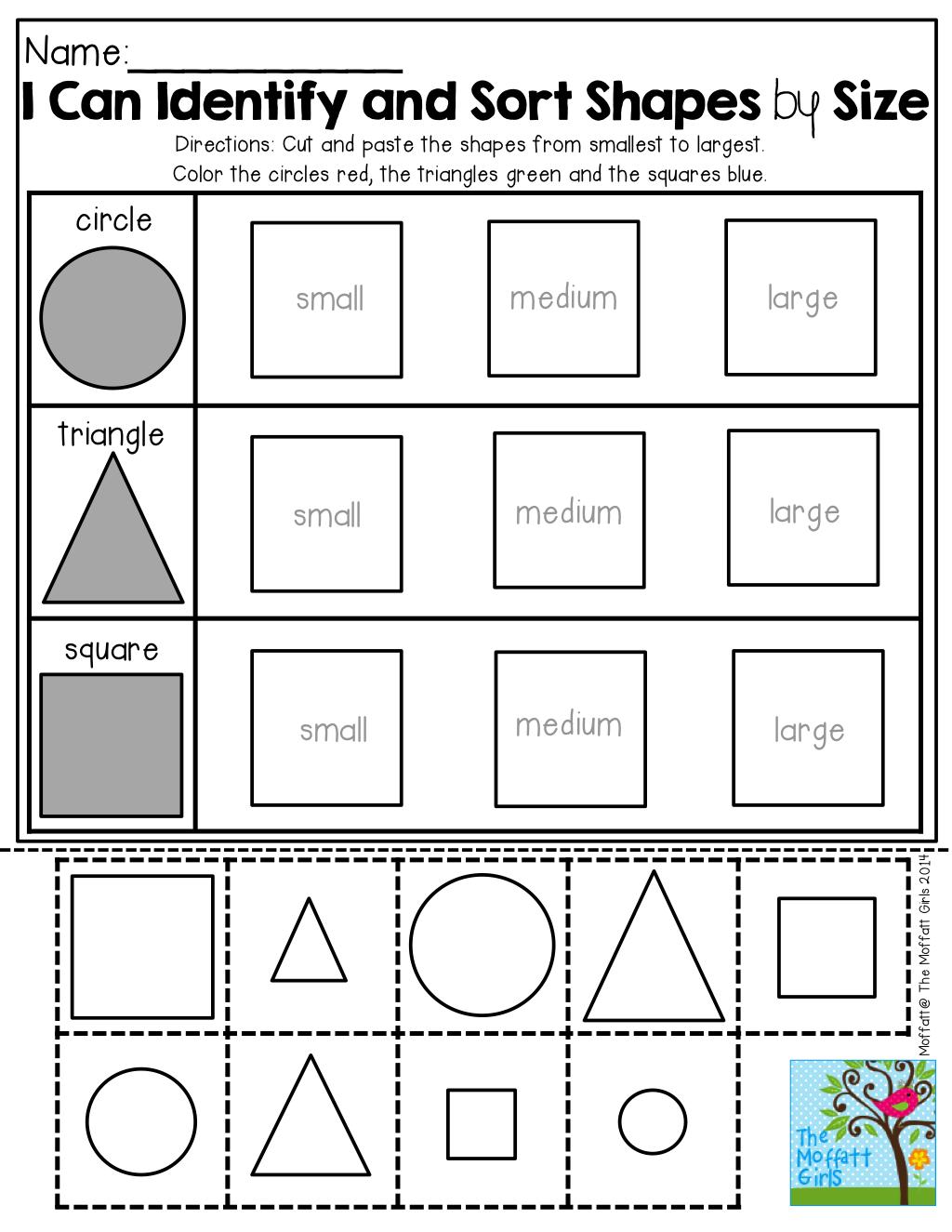 small resolution of Back to School NO PREP Math and Literacy Packet (Kindergarten)   Sorting  kindergarten