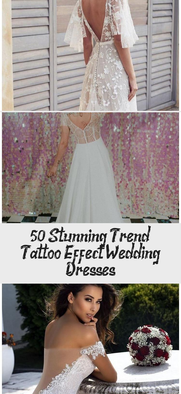 50+ Stunning Trend Tattoo Effect Wedding Dresses in 2020