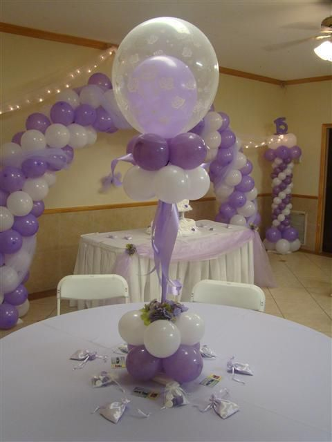 Balloon centerpieces starting at