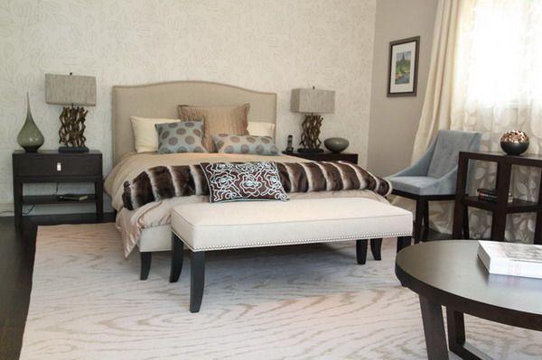 Traditional Bedroom Designs Amusing Traditional Bedroom Design Ideas With Bench  Http Design Decoration