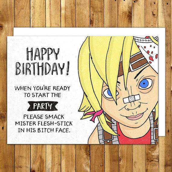 Borderlands Card Tiny Tina Birthday Card By Inanutshellstudio Gift