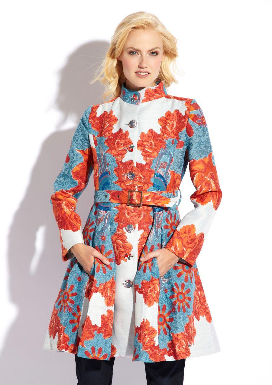 57dcd941b I am obsessed with Desigual coats - Podium Femina Woven Overcoat ...