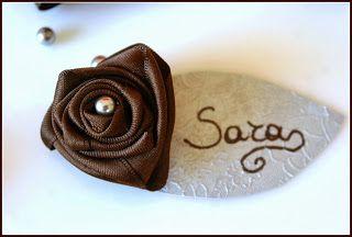 pensieri romantici : Double Color #4: cioccolato e grigio perla - segnaposto o chiudipacco?