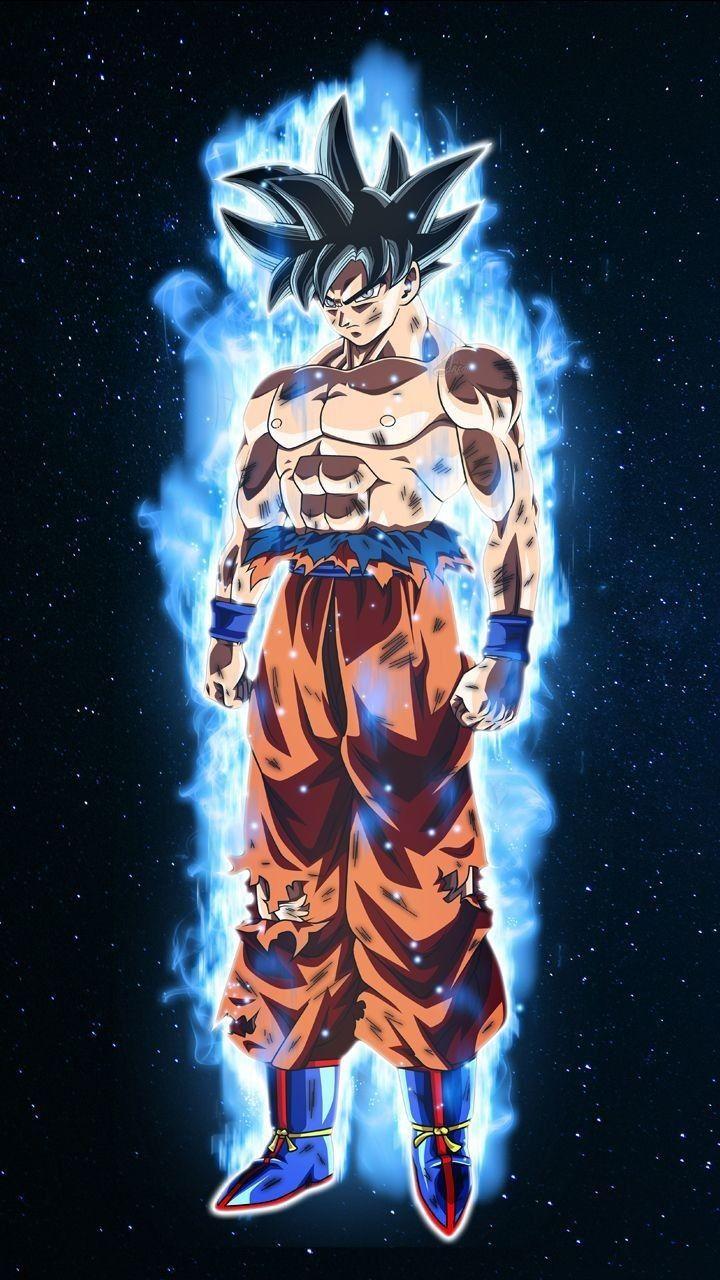 Goku super forte na transformação ultra instinto