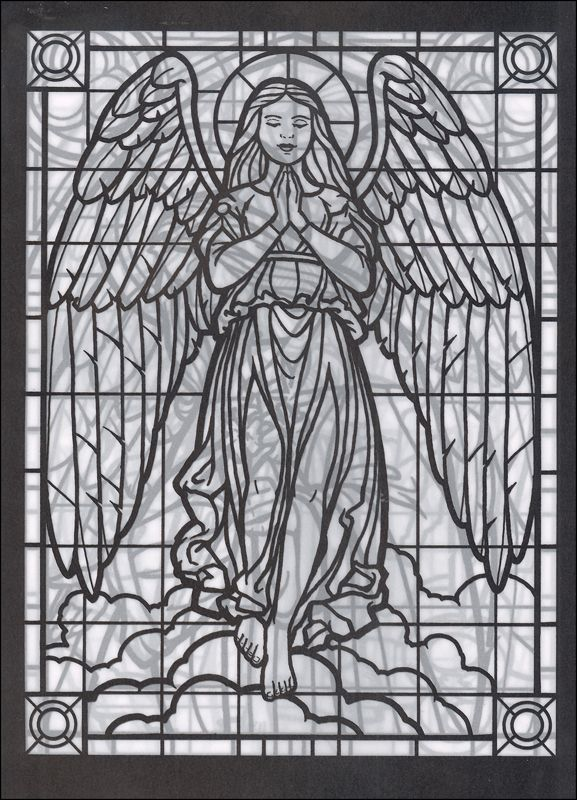Amazing Angels Stained Glass Coloring Book Additional Photo