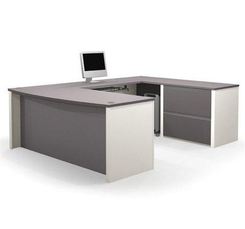 Premium U Shaped Desk In Slate Sandstone Or Bordeaux Slate U Shaped Office Desk Best Home Office Desk Desk Design