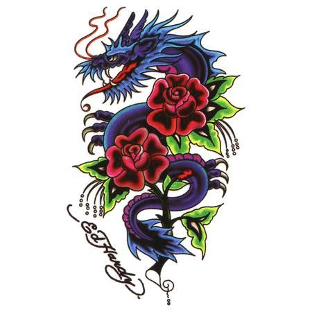 Rose With Dragon Tattoo Designs   dragon rose tattoos ...