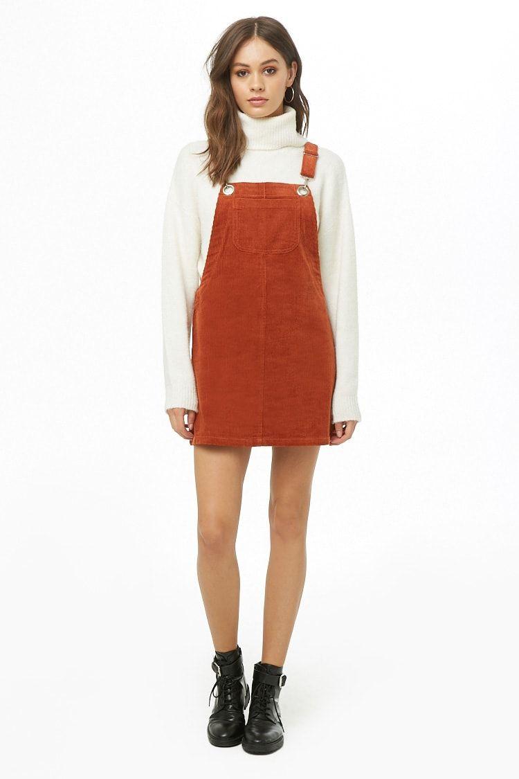 16fa8ac18f9 Corduroy Mini Overall Dress