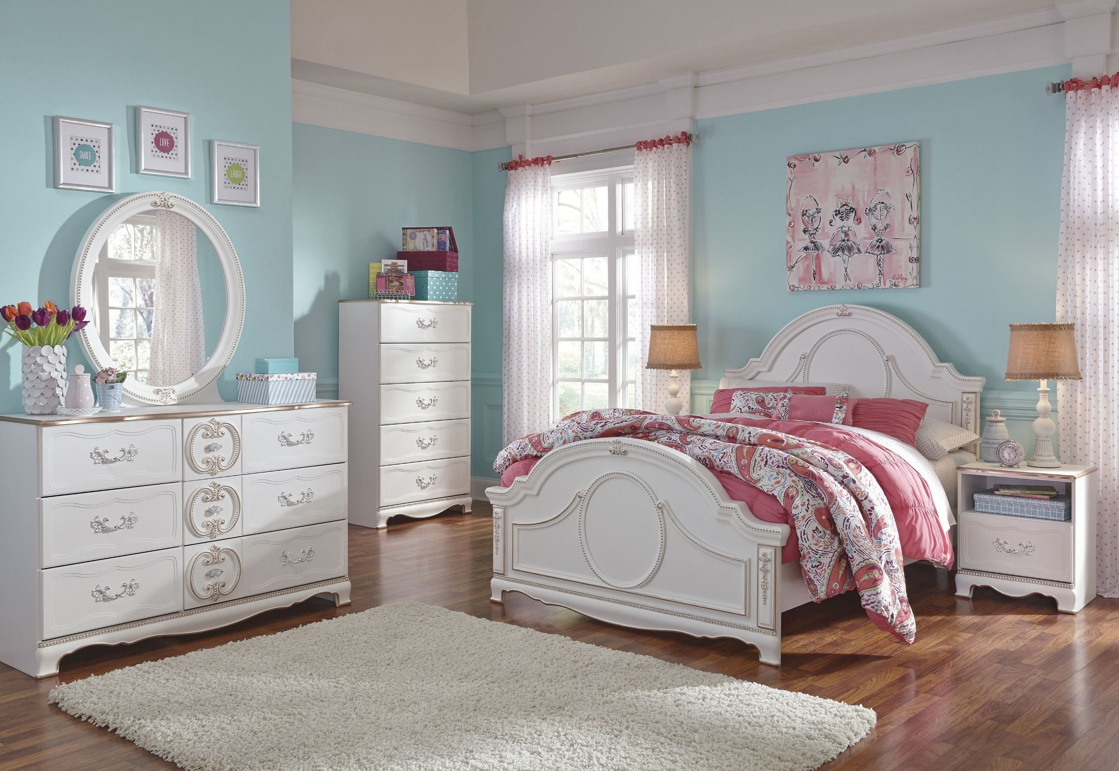 Korabella White Youth Panel Bedroom Set Dengan Gambar Furniture Rumah Desain