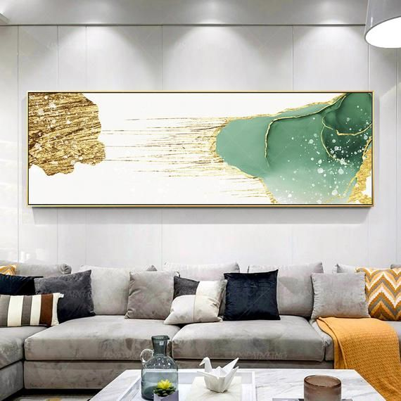 Gold Art Large Wall Art Abstract Yxpainting Printable Wall Art Etsy In 2021 Large Wall Art Long Wall Art Horizontal Wall Art