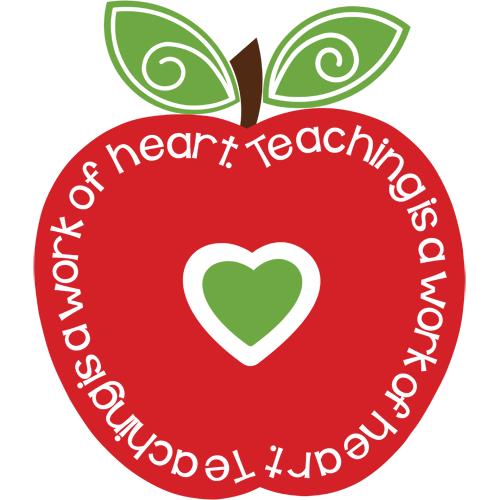 Teaching Is A Work Of Heart Svg Cut File Clipart Apple Clip Art