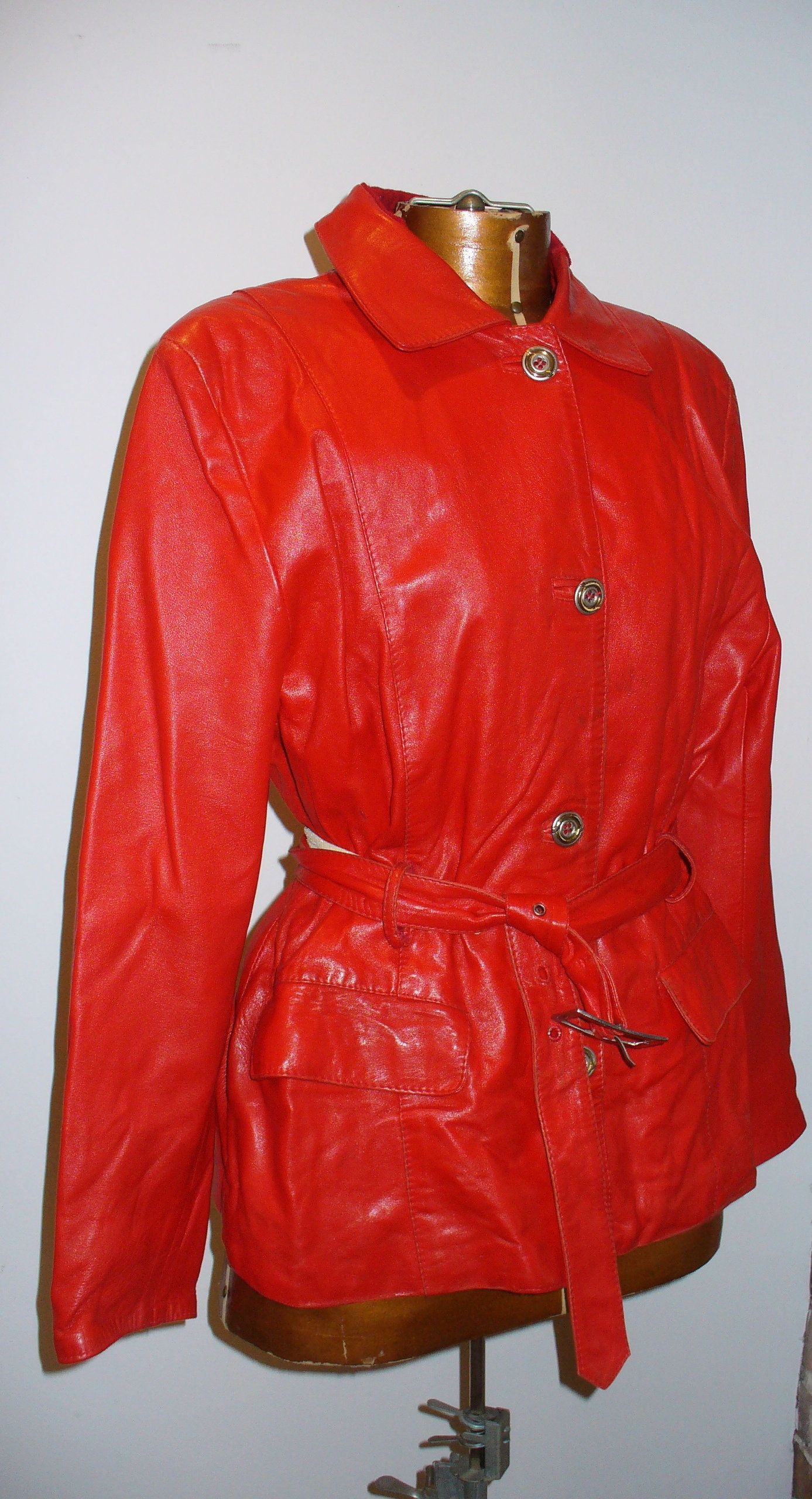 Peruzzi Leather Jacket VINTAGE Made in Italy Size M