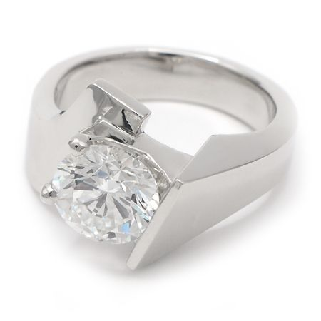 contemporary engagement ring in white gold wixon jewelers - Contemporary Wedding Rings