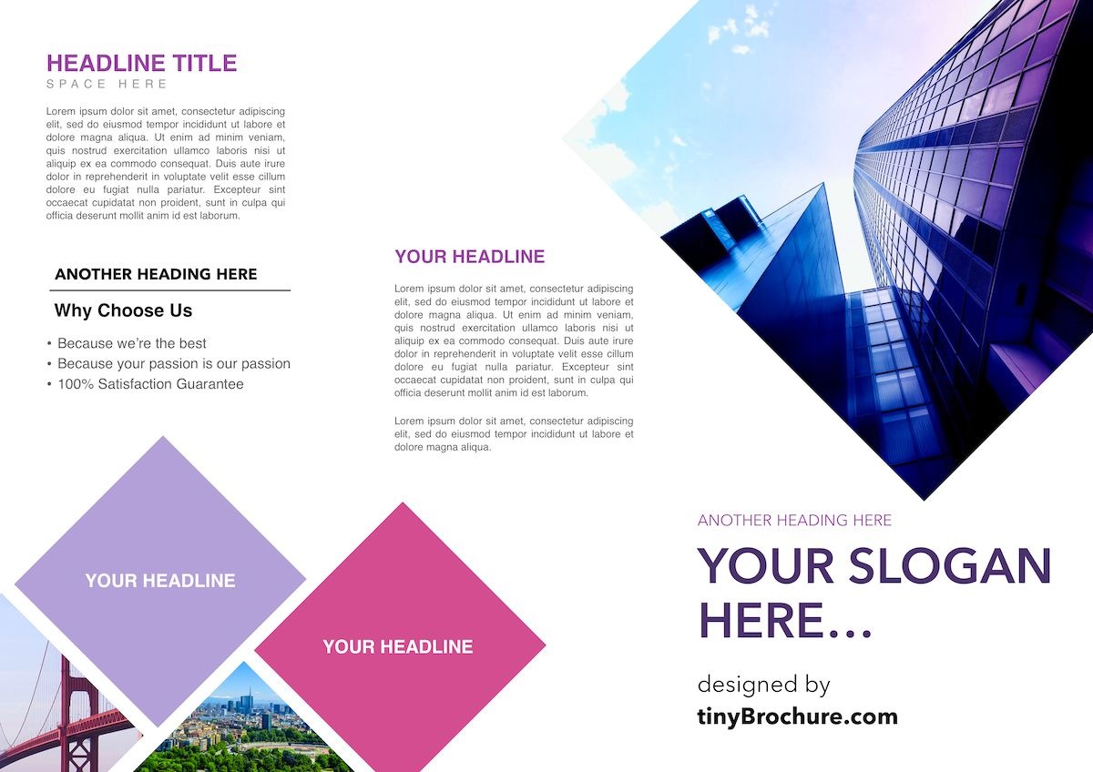 The stunning Three Fold Brochure Template Google Docs For