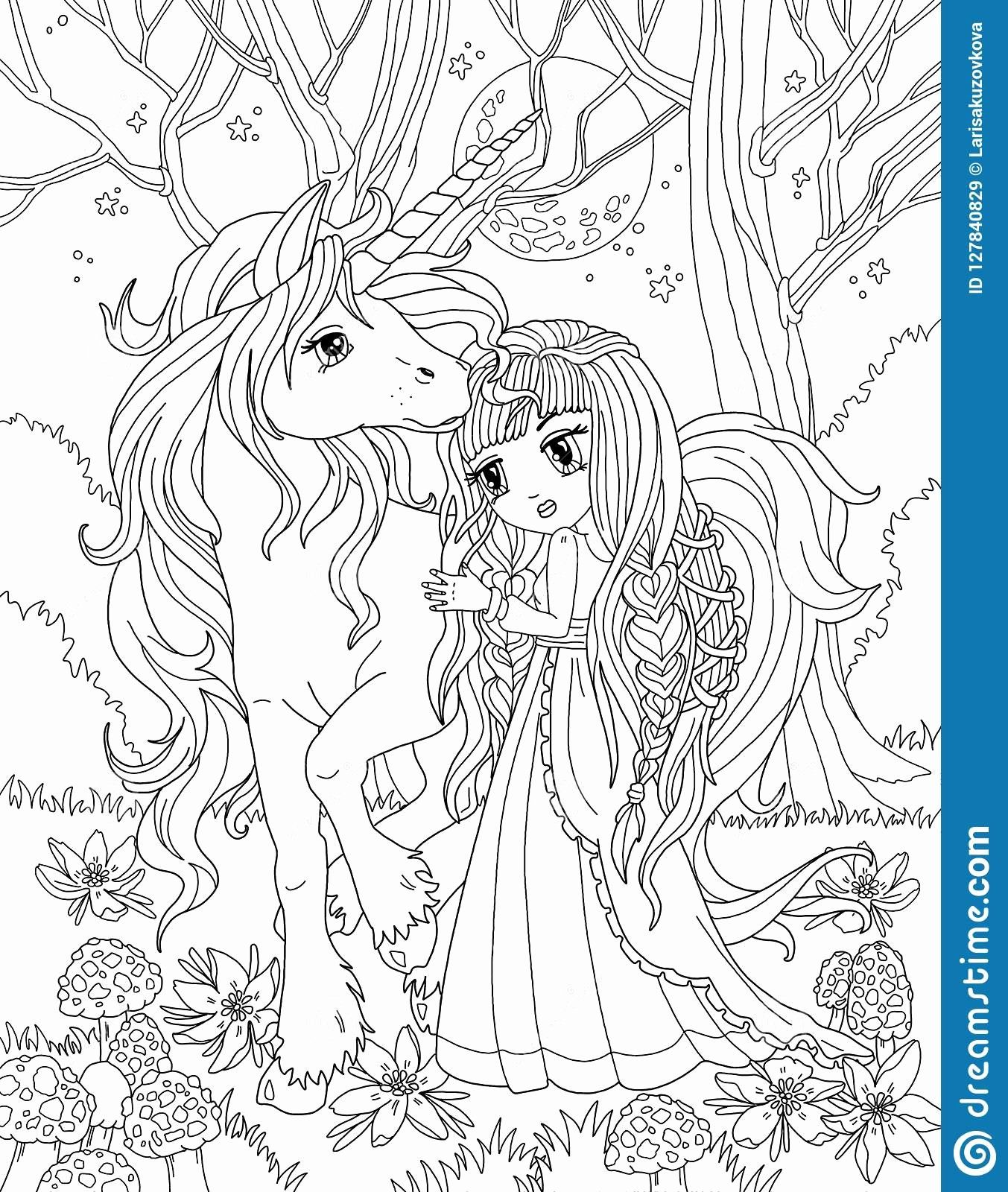 Fairy And Unicorn Coloring Pages Free   Novocom.top