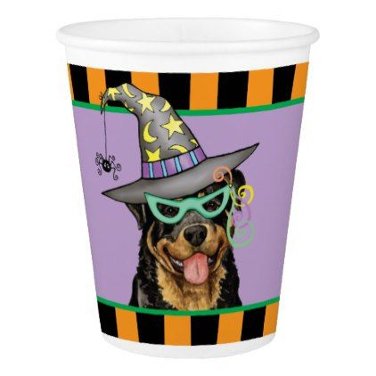 Halloween Rottweiler Paper Cup Rottweiler - halloween decorations party