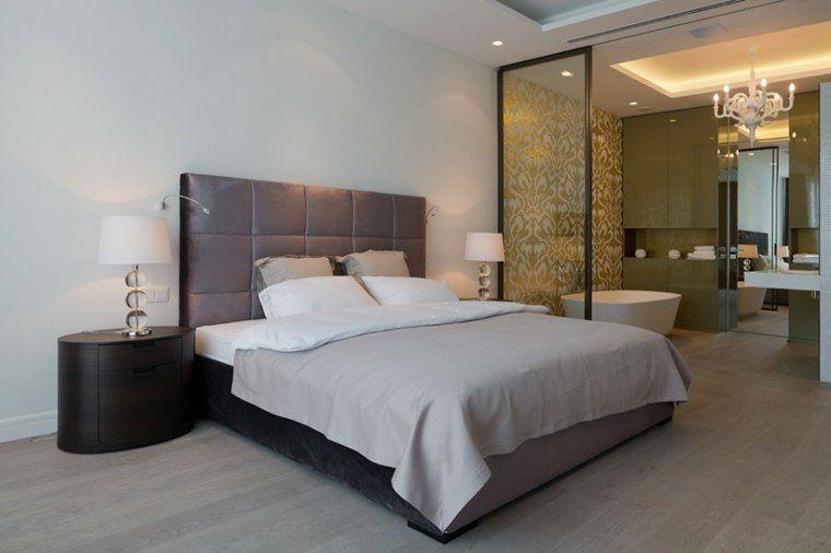 Chambre avec salle de bain fusion d espaces harmonieuse studio salle de bain integree chambre