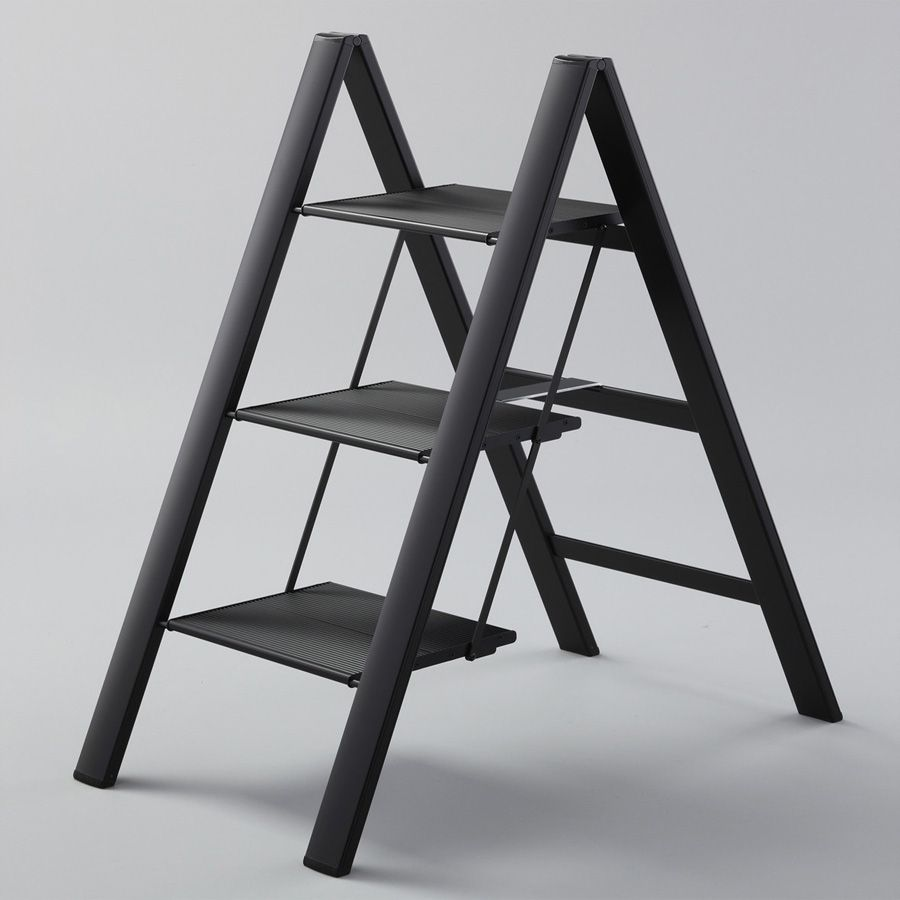 Peachy 3 Steps Folding Step Stool Ladder In Ultraslim Lightweight Inzonedesignstudio Interior Chair Design Inzonedesignstudiocom