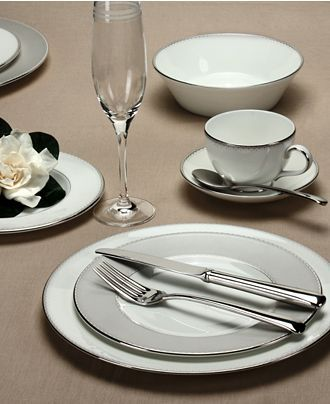 Monique Lhuillier Waterford Dinnerware, Dentelle Collection - Fine China - Dining & Entertaining - Macy's