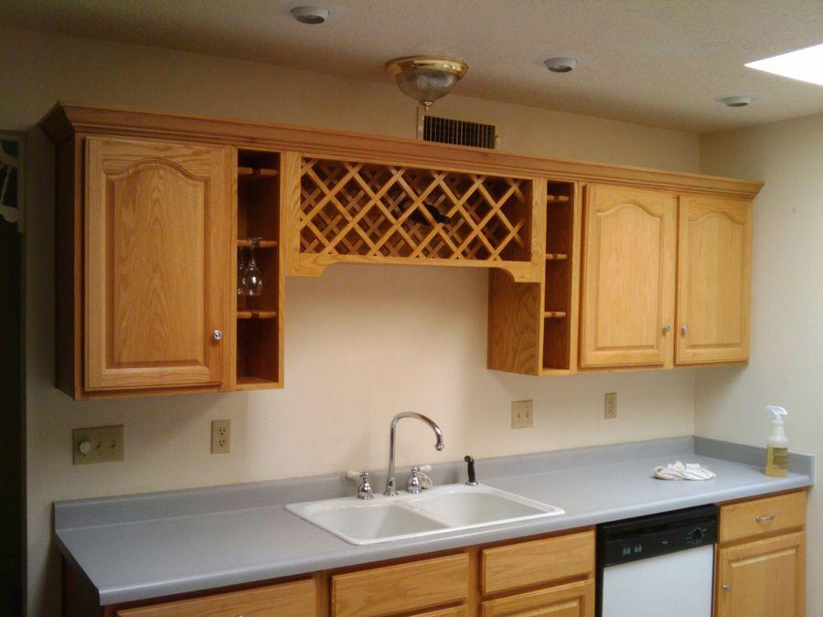 Custom Built Wine Rack Over Sink - Portfolio – Minuteman Refinishing