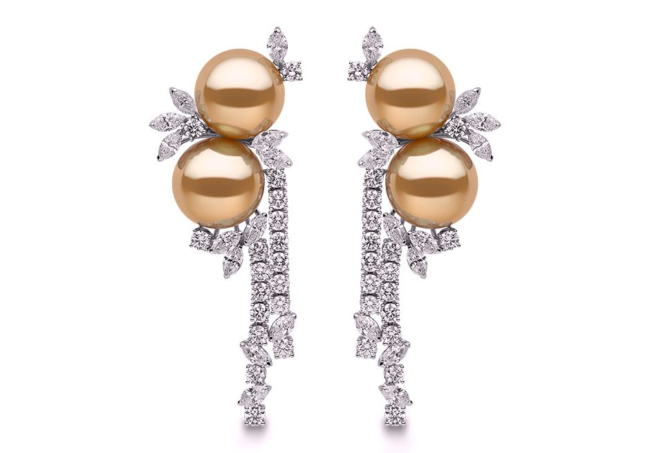 Rosamaria G Frangini | High Pearl Jewellery | Honeydew Earrings
