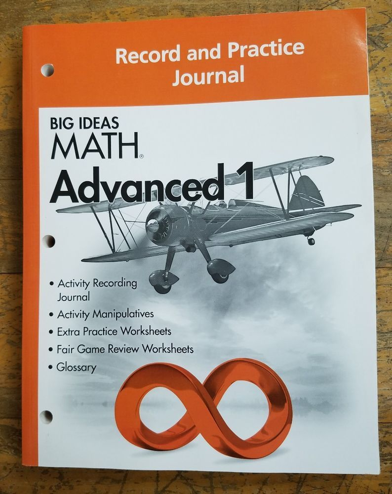 big ideas math: common core record & practice journal advanced 1 by