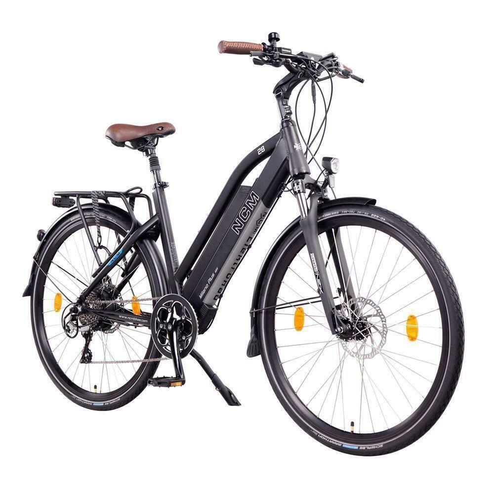 Details Zu Ncm Milano Plus 48v 28 Trekking E Bike 16ah 768wh Panasonic Akku Schwarz Ebike Bike Design Bike