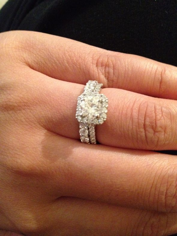 Round Diamond in Cushion Square Setting HH WEDDING Pinterest