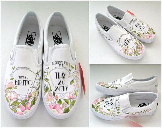 Wedding Shoes, Hand Painted Vans