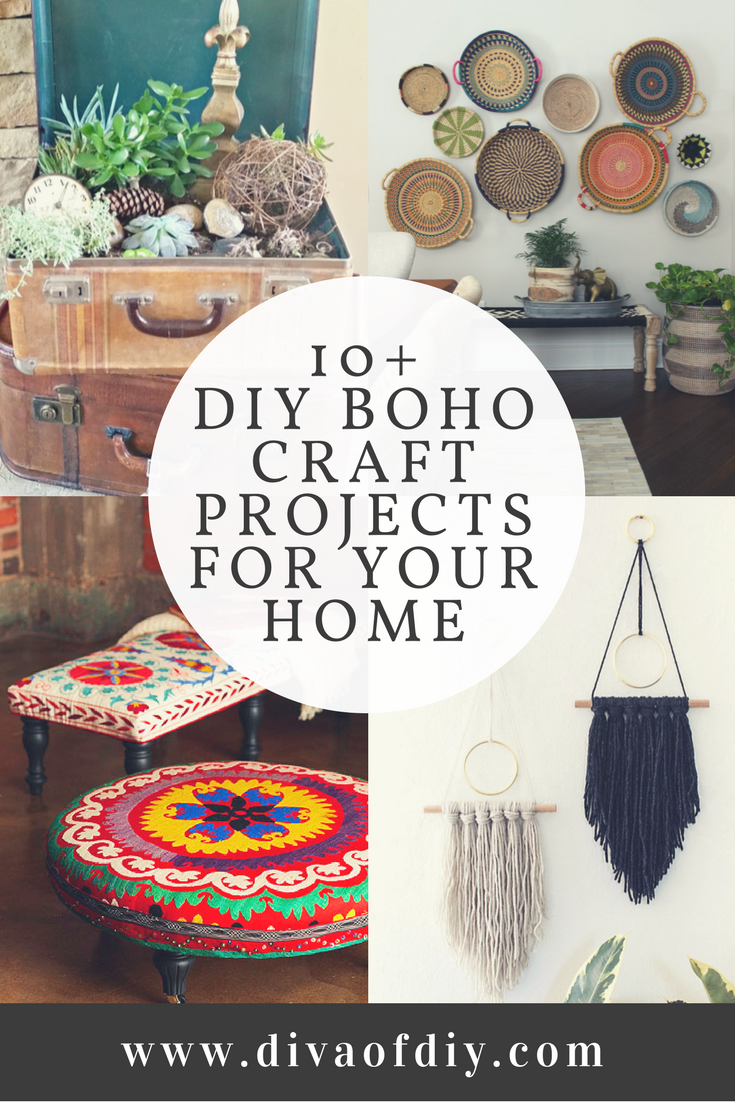 10 DIY Boho Craft Projects for your home