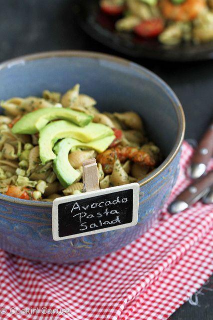 Shrimp, Corn & California Avocado Pasta Salad Recipe | cookincanuck.com #recipe #pasta by CookinCanuck, via Flickr