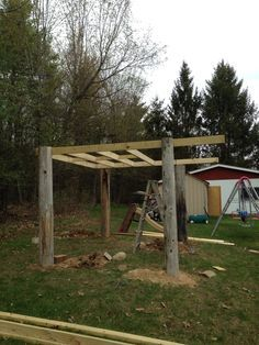 Treehouses Made With Telephone Poles Google Search Tree House Diy Tree House Backyard Makeover