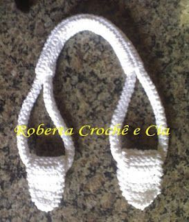 Crocheted purse handles (English translation)