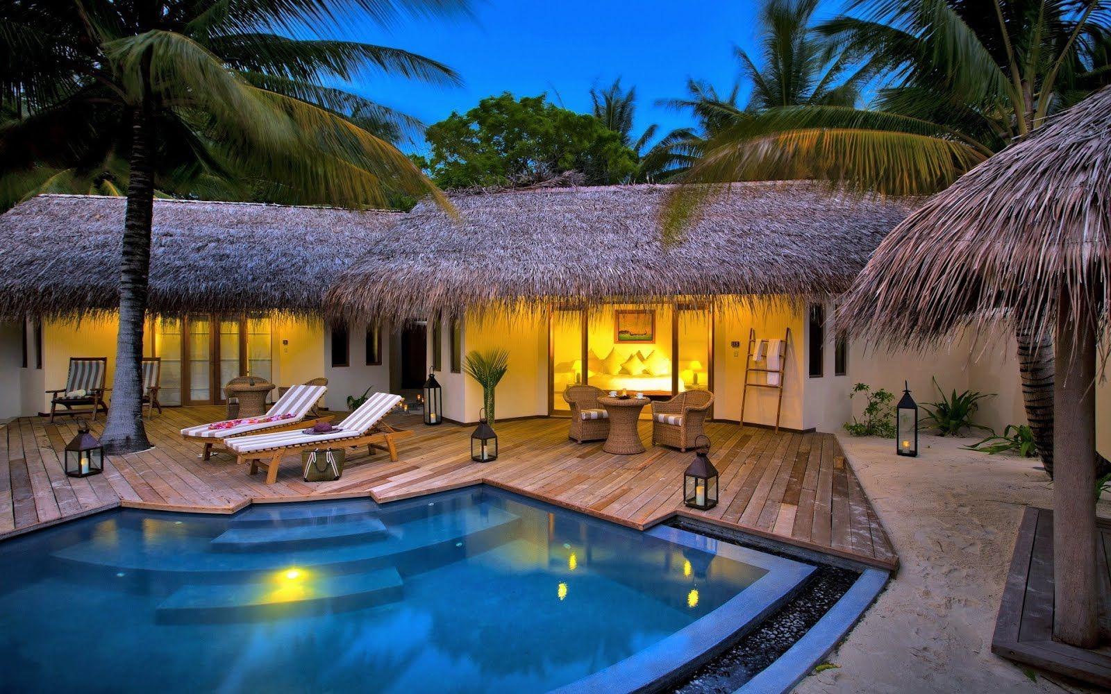 Caba C3 B1a De Lujo Con Piscina Luxury Bungalow 1920x1200 Wallpaper Jpg 1600 1000 Cabaña De Lujo Casas De Veraneo Casas De Verano