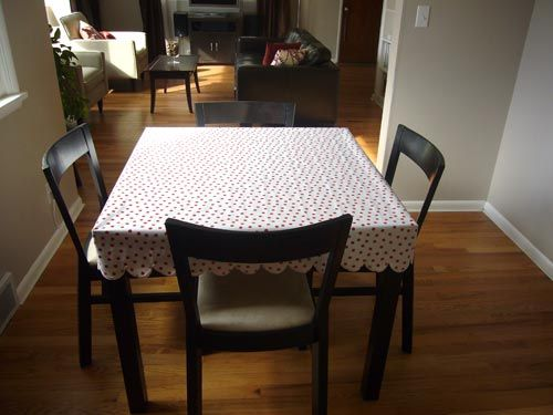 Oilcloth tablecloth tutorial -- make this with laminated ...