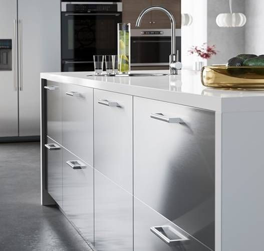 Ikea Uk Stainless Steel Kitchen Cabinets: Prep In Style With A Spacious IKEA Kitchen Island With