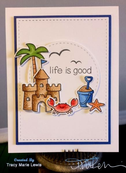 Patriotic Beachy Life is Good by zineth - Cards and Paper Crafts at Splitcoaststampers