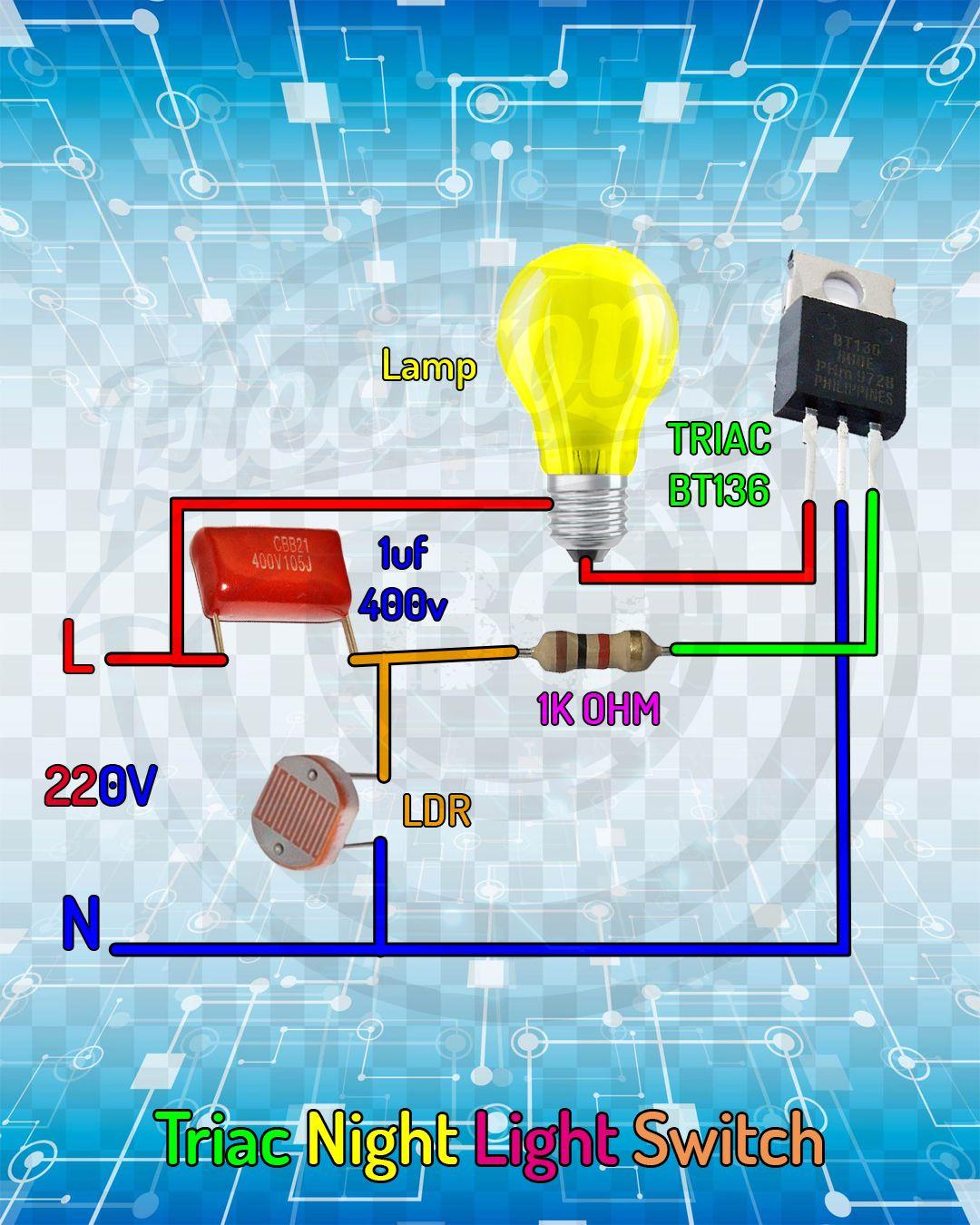 Triac Night Light Switch.
