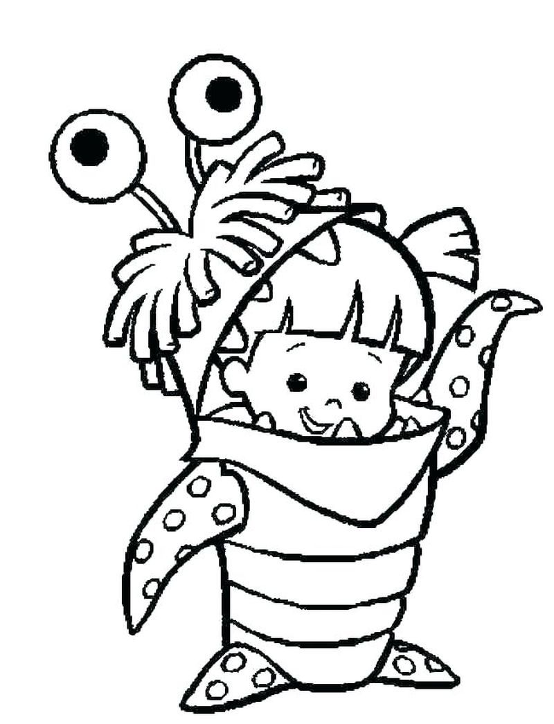 Monsters Inc Coloring Picture Monster Coloring Pages Disney Coloring Pages Coloring Pictures