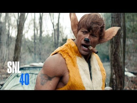 "Watch The Rock Play A Badass Bambi In ""SNL's"" Live Action Remake"