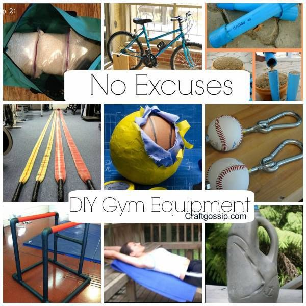 Diy Gym Equipment No More Excuses Diy Gym Equipment No