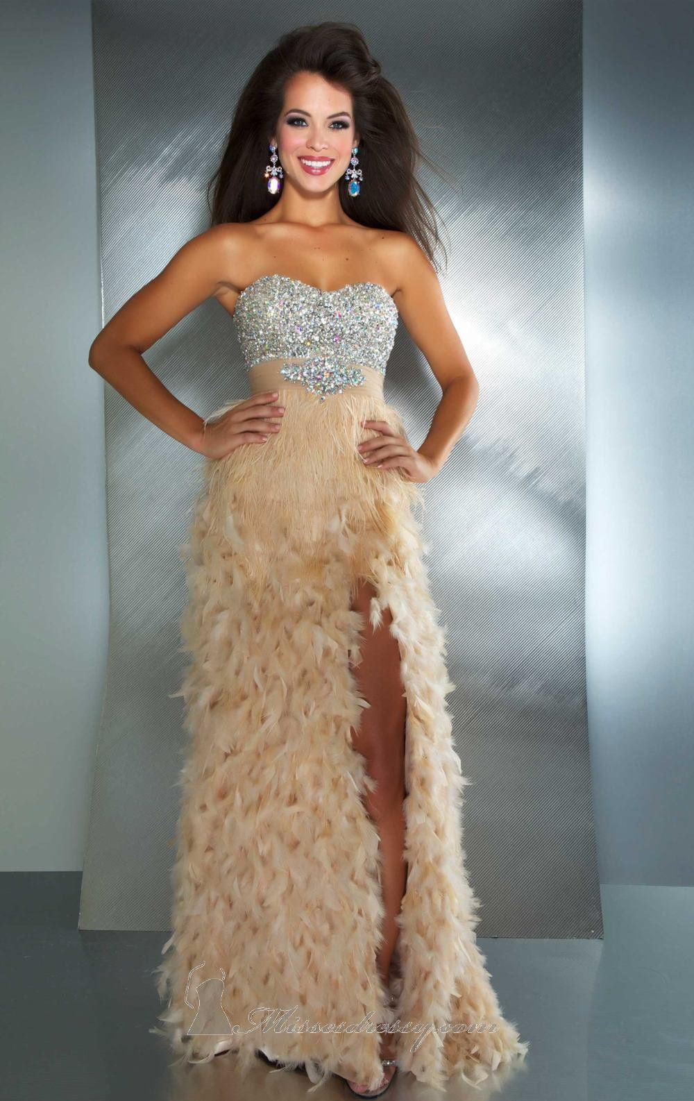 The Feathers I Want At The Bottom Of A Mermaid Silhouette Prom
