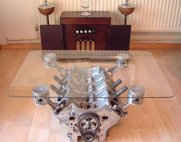 For All My Fellow Car Nerds I Present The V8 Table For My Hubby