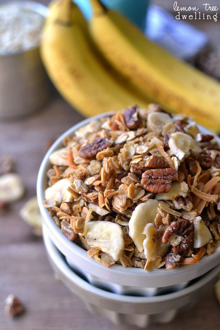 Banana Bread Granola. What a great twist on traditional granola!