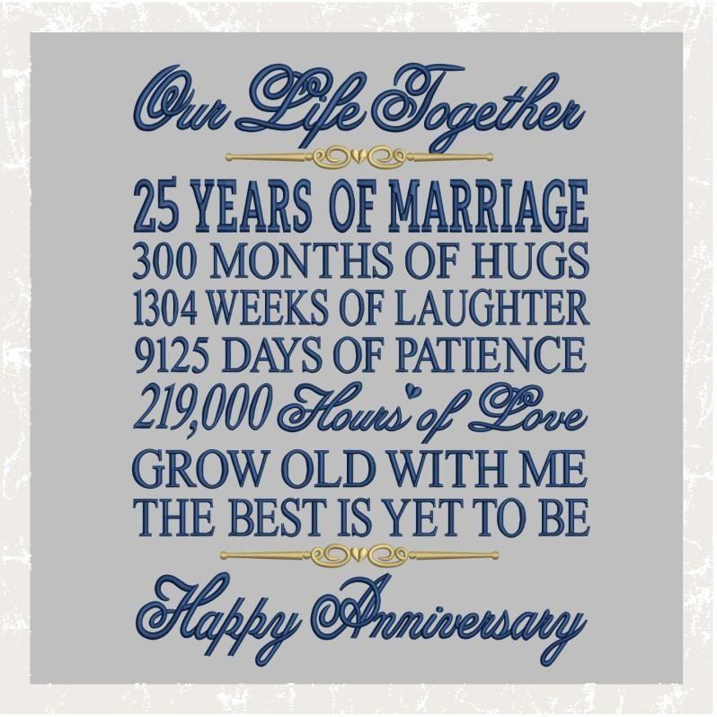 15 Year Wedding Anniversary Sayings: TD - 25th Wedding Anniversary Saying